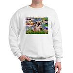 Lilies (#2)/Pug (#2) Sweatshirt