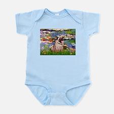 Lilies (#2)/Pug (#2) Infant Bodysuit