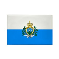 San Marino Rectangle Magnet