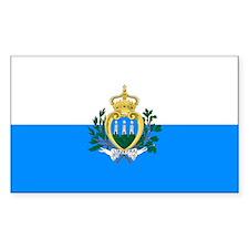 San Marino Rectangle Decal