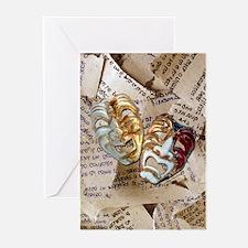 Drama Masks Greeting Cards (Pk of 10)