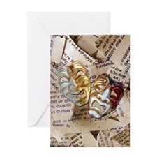 Drama Masks Greeting Card