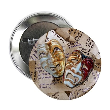 "Drama Masks 2.25"" Button (10 pack)"