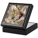 Drama mask Square Keepsake Boxes
