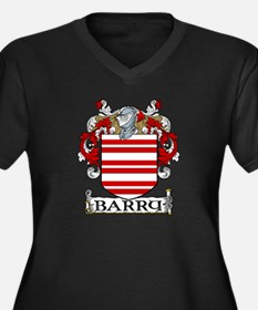 Barry Coat of Arms Women's Plus Size V-Neck Dark T