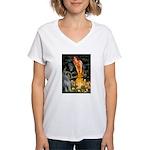 Fairies / G Schnauzer Women's V-Neck T-Shirt