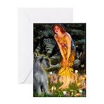 Fairies / G Schnauzer Greeting Card