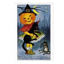 Halloween 34 Postcards (Package of 8)
