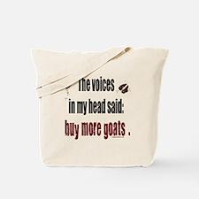 Unique Voices in my head Tote Bag