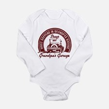 Grandpa's Garage Long Sleeve Infant Body Suit