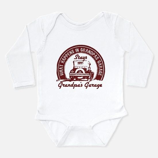 Grandpa's Garage Long Sleeve Infant Body Suit