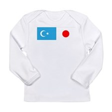 Uyghur and Japanese Flag Long Sleeve T-Shirt