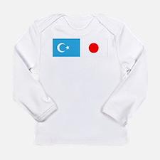 Uyghur and Japanese Flag Long Sleeve T-Shirt