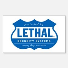 Lethal Security Sticker- Exterior vinyl