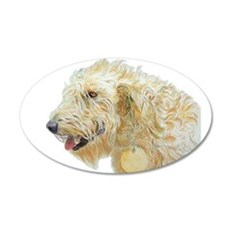 Cream Labradoodle 2 Wall Decal