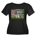 Lilies / M Schnauzer Women's Plus Size Scoop Neck