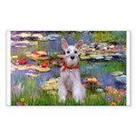 Lilies / M Schnauzer Sticker (Rectangle)