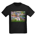 Lilies / M Schnauzer Kids Dark T-Shirt