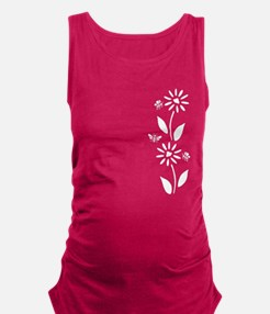 Flowers And Bees Maternity Tank Top