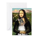 Mona / M Schnauzer Greeting Cards (Pk of 10)