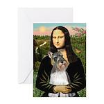 Mona / M Schnauzer Greeting Card