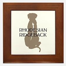 Ridgeback w/ Text Framed Tile