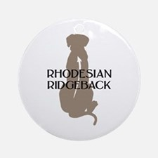 Ridgeback w/ Text Ornament (Round)