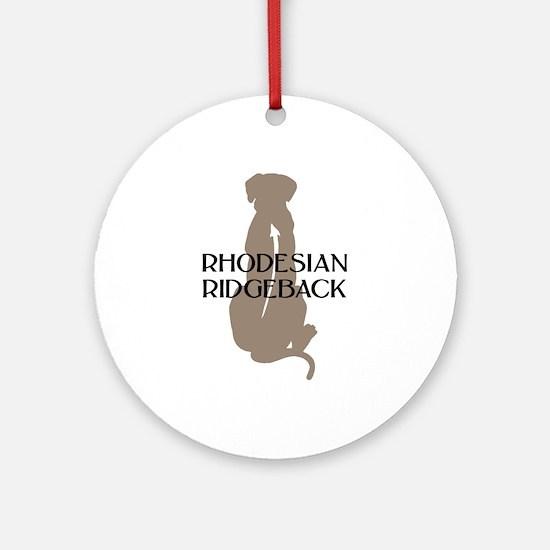 Ridgeback w/ Text Ornament (Round)