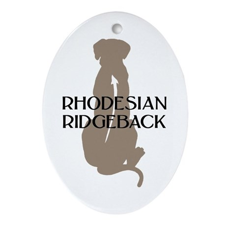 Ridgeback w/ Text Oval Ornament