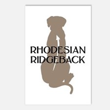 Ridgeback w/ Text Postcards (Package of 8)