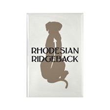 Ridgeback w/ Text Rectangle Magnet