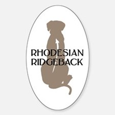 Ridgeback w/ Text Oval Decal