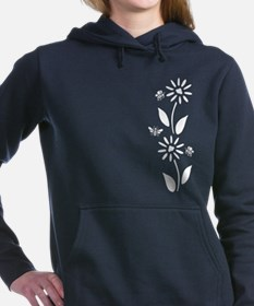 Flowers And Bees Women's Hooded Sweatshirt