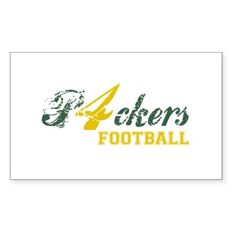 Packers Football Rectangle Sticker