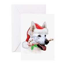 German Shepherd (White) Greeting Cards (Pk of 20)