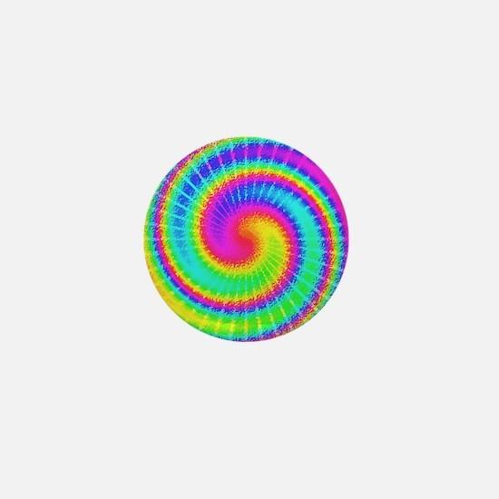 Retro TieDyed Tie Dye Swirl Colorful 60s Mini Butt