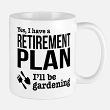 Gardening Retirement Plan Mugs