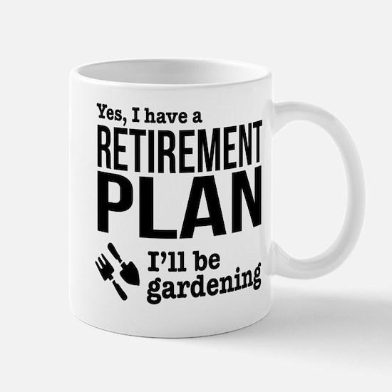Gardening Retirement Plan Mugs