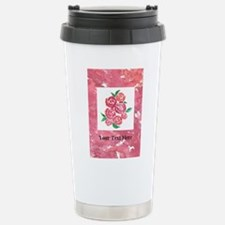 Framed Abstract Pink Ro Stainless Steel Travel Mug