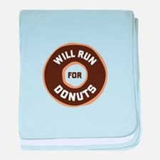 Will Run For Donuts baby blanket