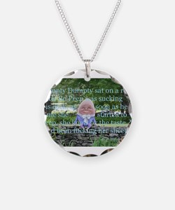 Adult Humor Nursery Rhyme Necklace Circle Charm
