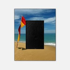 Ocean Beach Lifeguard Safety Flag in Picture Frame