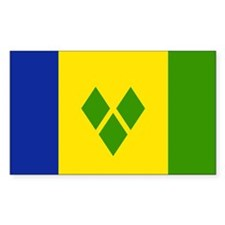 Saint Vincent and Grenadines Rectangle Decal