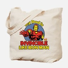 My Dad is Invincible Like Iron Man Tote Bag