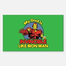 My Dad is Invincible Like Iron Decal