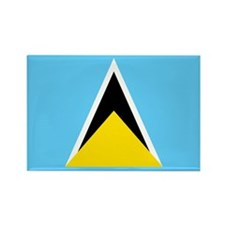 Saint Lucia Rectangle Magnet