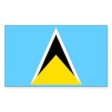 Saint Lucia Rectangle Decal