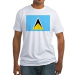 Saint Lucia Fitted T-Shirt