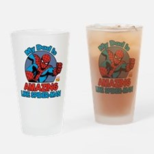 My Dad is Amazing Like Spider-Man Drinking Glass