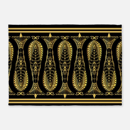 Golden Border 5'x7'Area Rug
